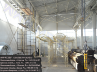 Строительная вышка-тура гигант для ремонтных работ внутри здания