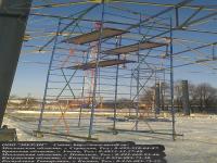Строительство производственного здания с применением быстросборной вышки-тура гигант