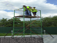 Вышка мерди-10 выдерживает до 200 кг на распределённый квадратный метр