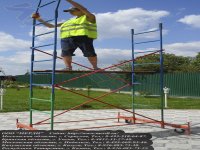Сборка вышки строительной марки тур-7 легка и проста