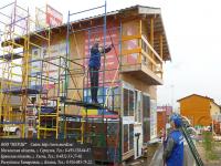 Последние этапы монтажа вышки строительной серии увт