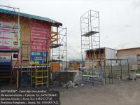Выставочные экземпляры вышек-тура для нашего партнёра установлены на строительном рынке