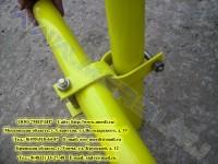 Соединение рамы с хомутовой стяжкой